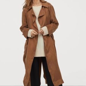 H&M Lightweight Trench Coat Brown Size S